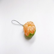 Whole Orange (small) Ver. 2 Cell Phone Charm/Zipper Pull - Fake Food Japan