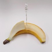 Whole Peeled Banana Card Stand - Fake Food Japan
