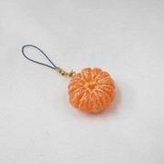 Whole Peeled Orange (small) Cell Phone Charm/Zipper Pull - Fake Food Japan