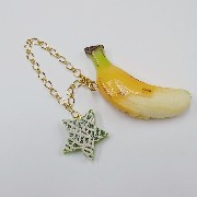 Whole Peeled Ripened Banana & Melon (Star-Shaped) (small) Bag Charm - Fake Food Japan