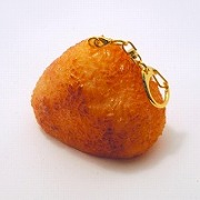 Yaki Onigiri (Toasted Rice Ball) Keychain - Fake Food Japan