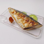 Yaki Sanma (Grilled Mackerel Pike) Head iPhone X Case - Fake Food Japan